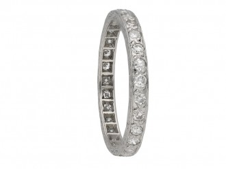 Art Deco engraved diamond eternity band berganza hatton garden