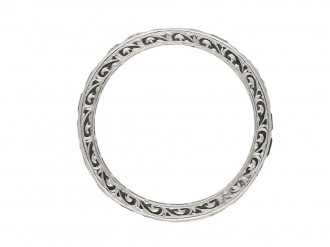 Vintage diamond and sapphire eternity ring berganza hatton garden