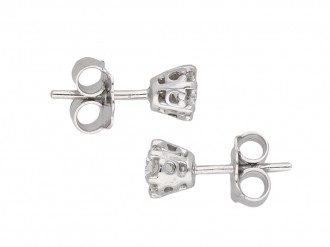 Vintage diamond stud earrings berganza hatton garden