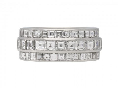 Art Deco diamond eternity band berganza hatton garden