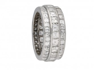 Art Deco diamond eternity band berganza hatton garden