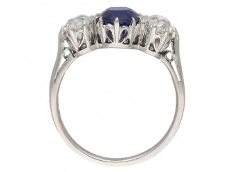 Edwardian Burmese sapphire diamond ring berganza hatton garden