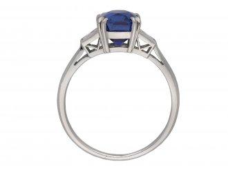 Royal Blue Kashmir sapphire diamond ring berganza hatton garden