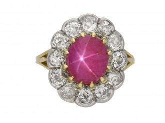 star ruby and diamond coronet cluster ring berganza hatton garden