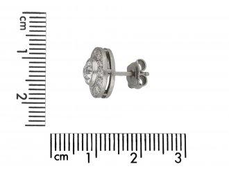 Art Deco diamond cluster earrings, berganza hatton garden