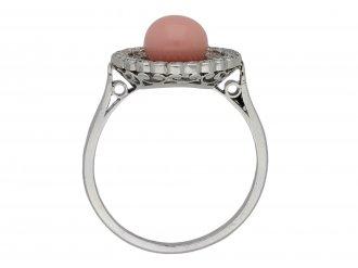 Antique conch pearl and diamond ring berganza hatton garden