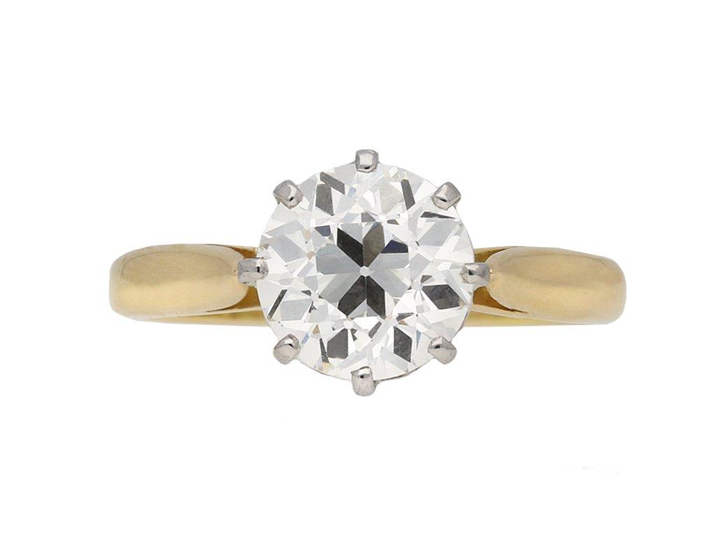 Belle Époque diamond engagement ring berganza hatton garden