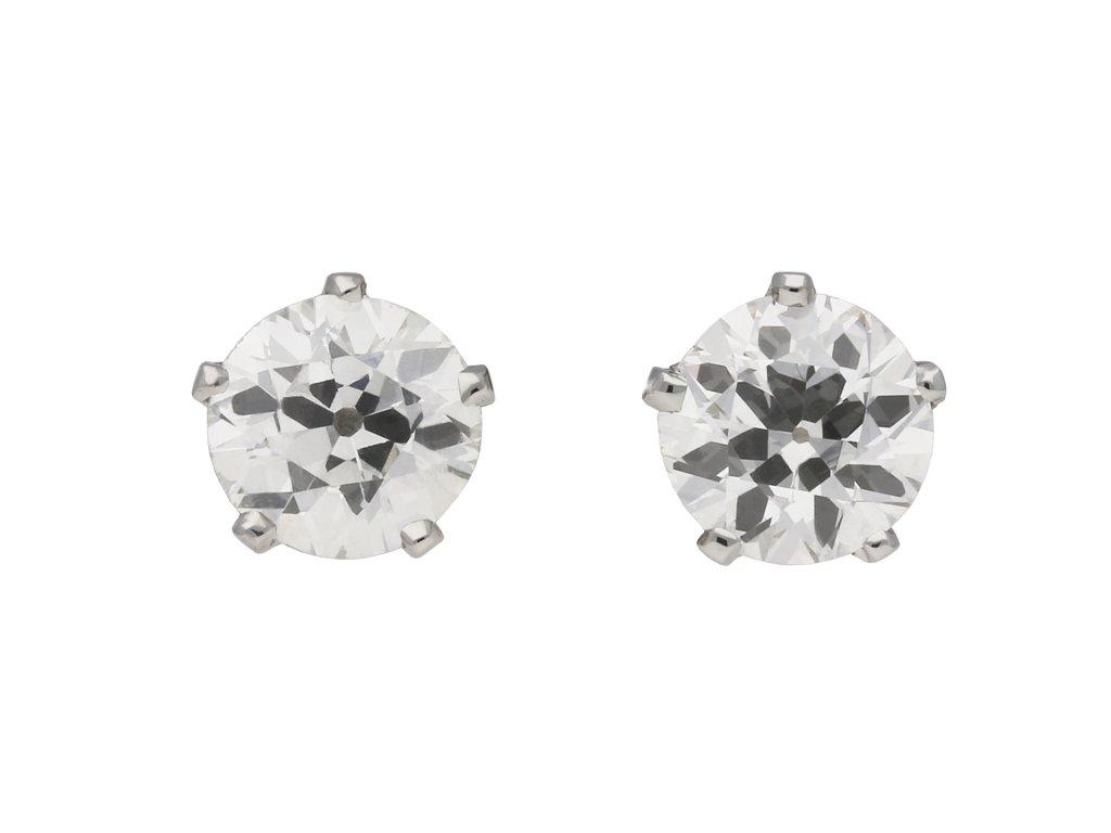 Art Deco diamond stud earrings berganza hatton garden