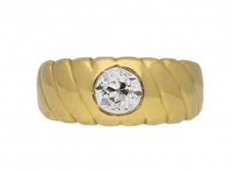 Victorian solitaire old mine diamond ring berganza hatton garden