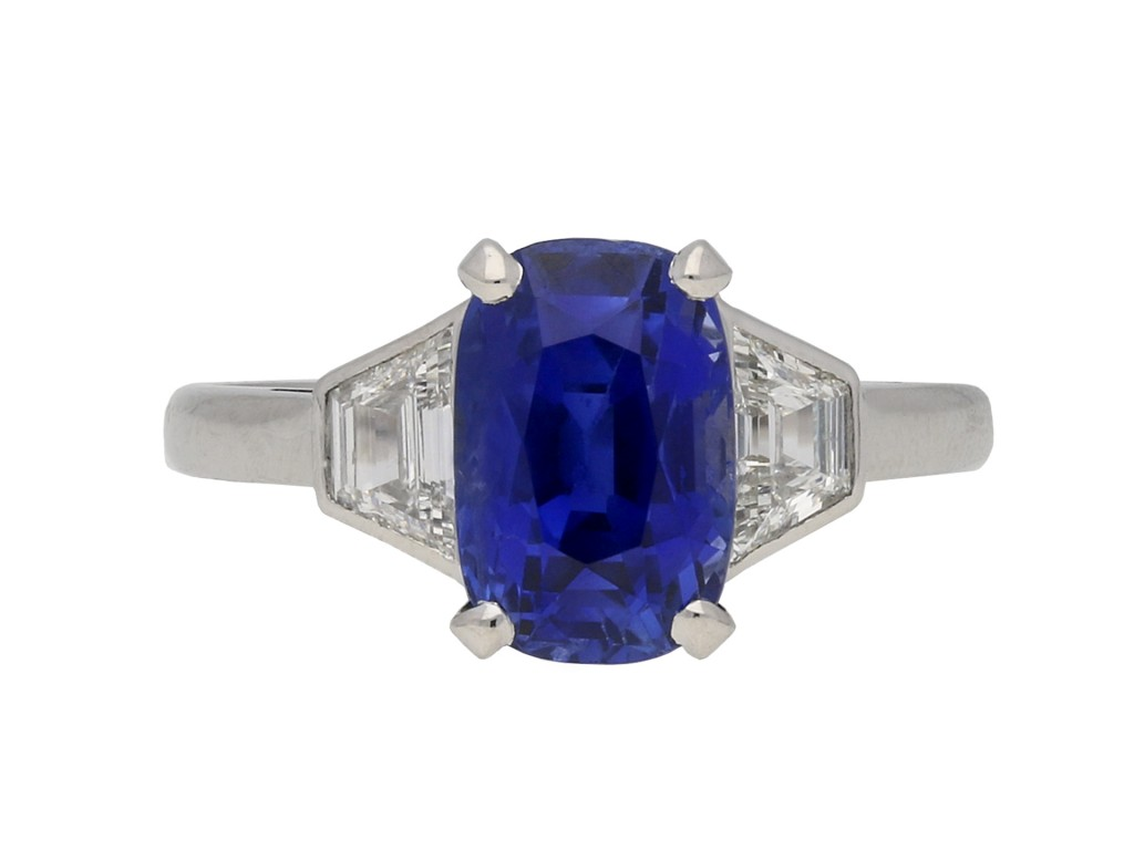 Vintage Burmese sapphire and diamond ring berganza hatton garden