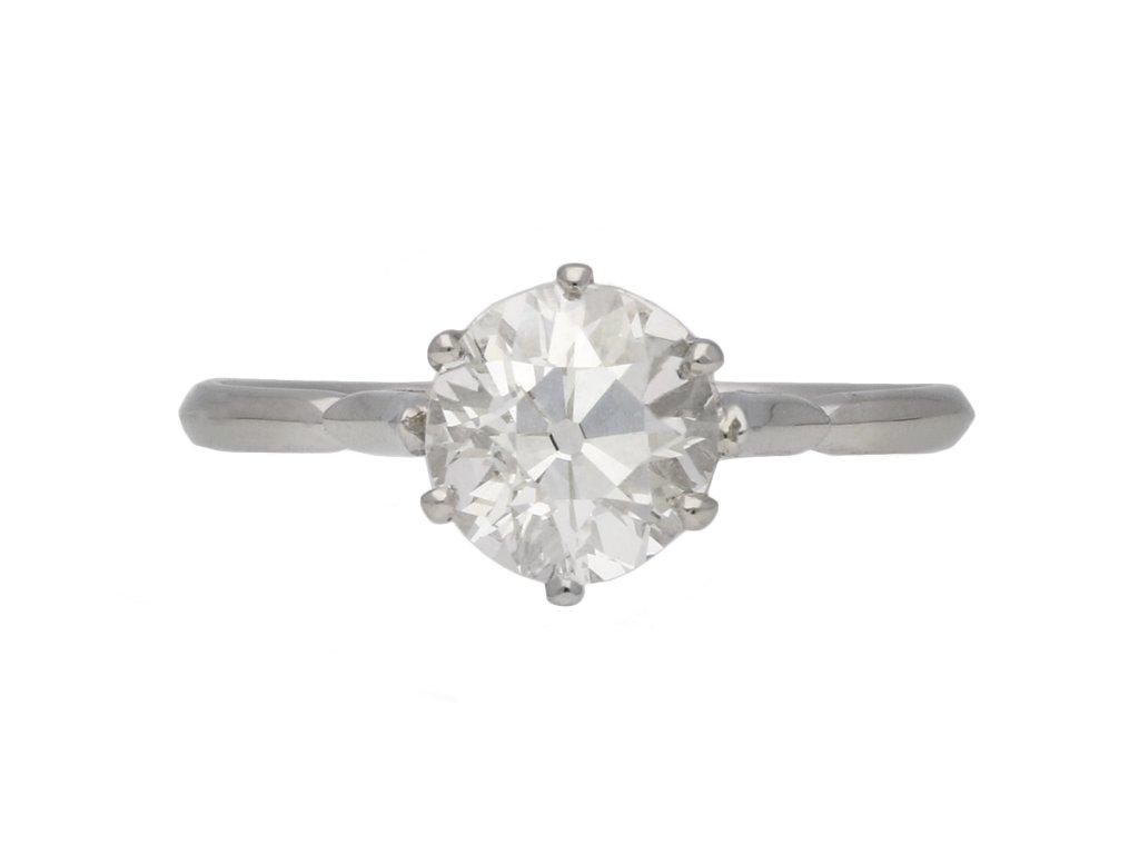 Old cut diamond solitaire ring berganza hatton garden