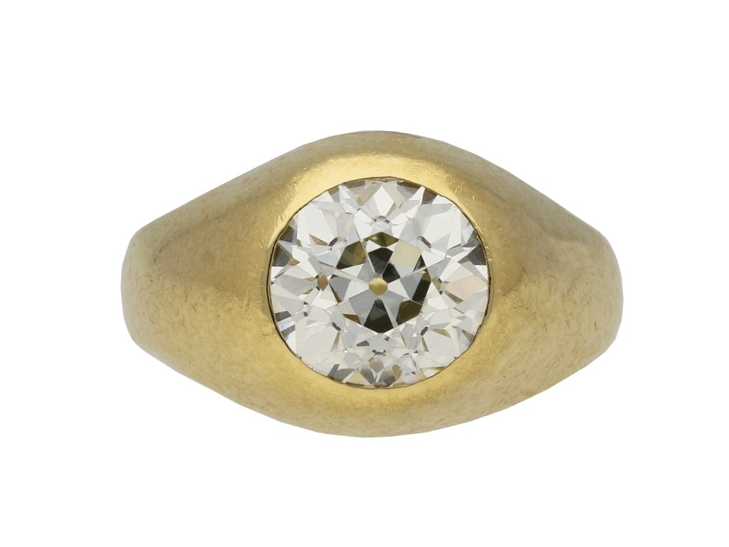 Victorian old cut diamond gypsy ring berganza hatton garden
