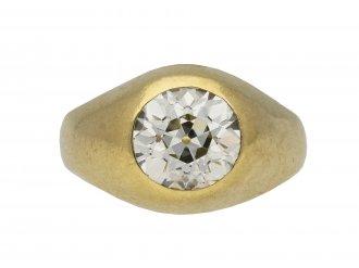 Victorian old cut diamond gypsy ring berganza hatton garden