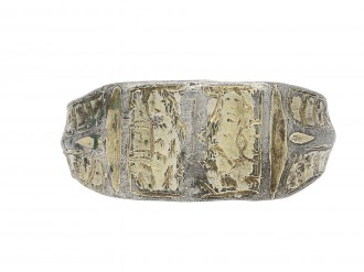 Post Medieval silver iconographic ring berganza hatton garden