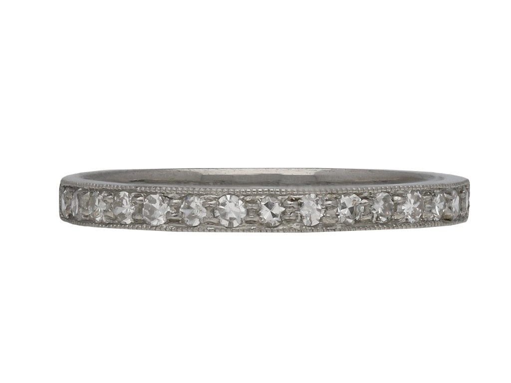 Vintage diamond set half eternity ring berganza hatton garden