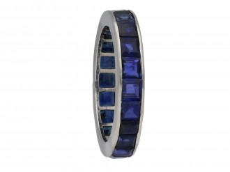 Art Deco full eternity sapphire ring berganza hatton garden