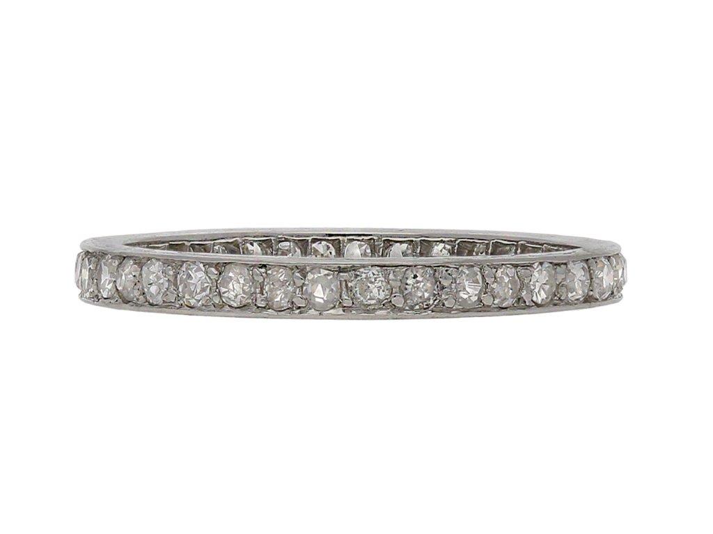 Diamond full eternity ring 1920 Berganza Hatton Garden