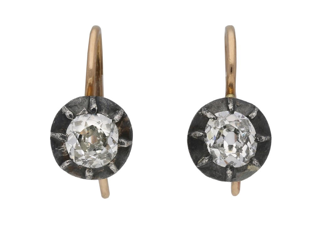 Victorian old mine diamond earrings berganza hatton garden