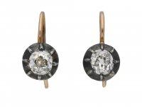 Victorian old mine diamond earrings berganza hatton garden
