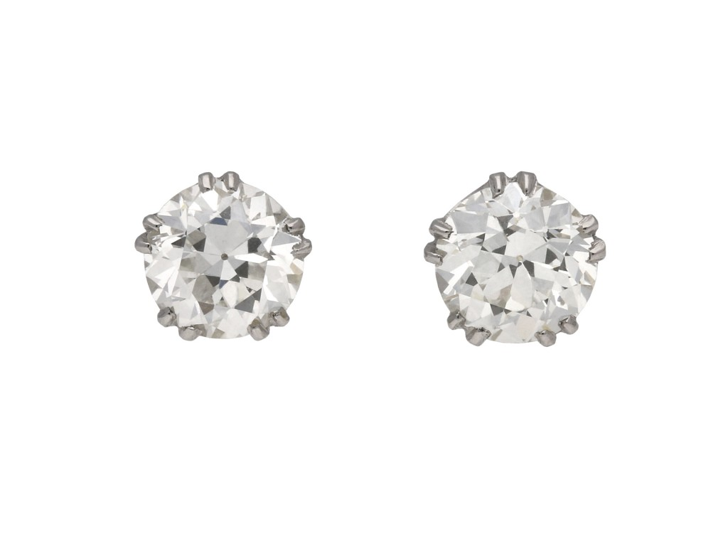 Diamond stud earrings berganza hatton garden