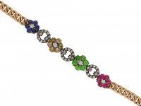 Victorian diamond and gemstone bracelet berganza hatton garden