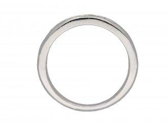 Diamond and platinum half eternity ring berganza hatton garden