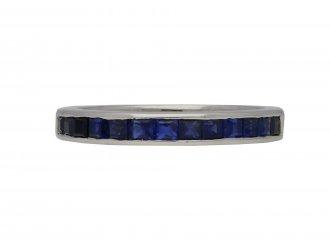 Vintage half eternity sapphire ring berganza hatton garden