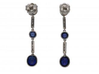 Edwardian sapphire and diamond earrings berganza hatton garden