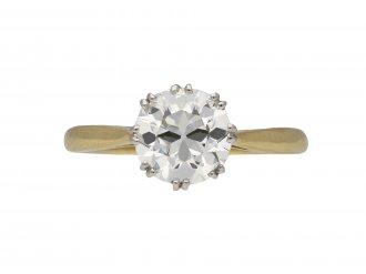 Edwardian diamond solitaire ring berganza hatton garden