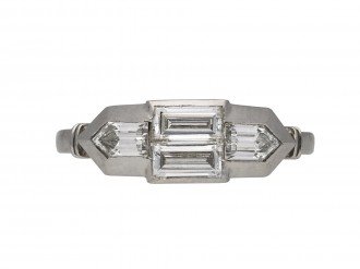 Art Deco diamond four stone ringBerganza hatton garden