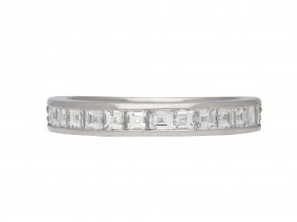 Diamond and platinum half eternity ring berganza hatton garden