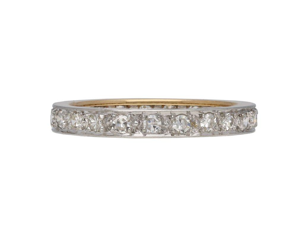 Art Deco diamond full eternity band berganza hatton garden