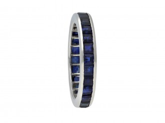 Art Deco sapphire full eternity ring hatton garden