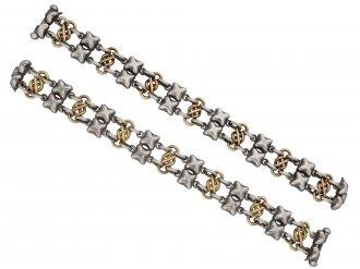 Victorian gold and silver choker/bracelet berganza hatton garden