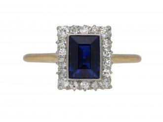 Alabaster & Wilson sapphire diamond ring berganza hatton garden
