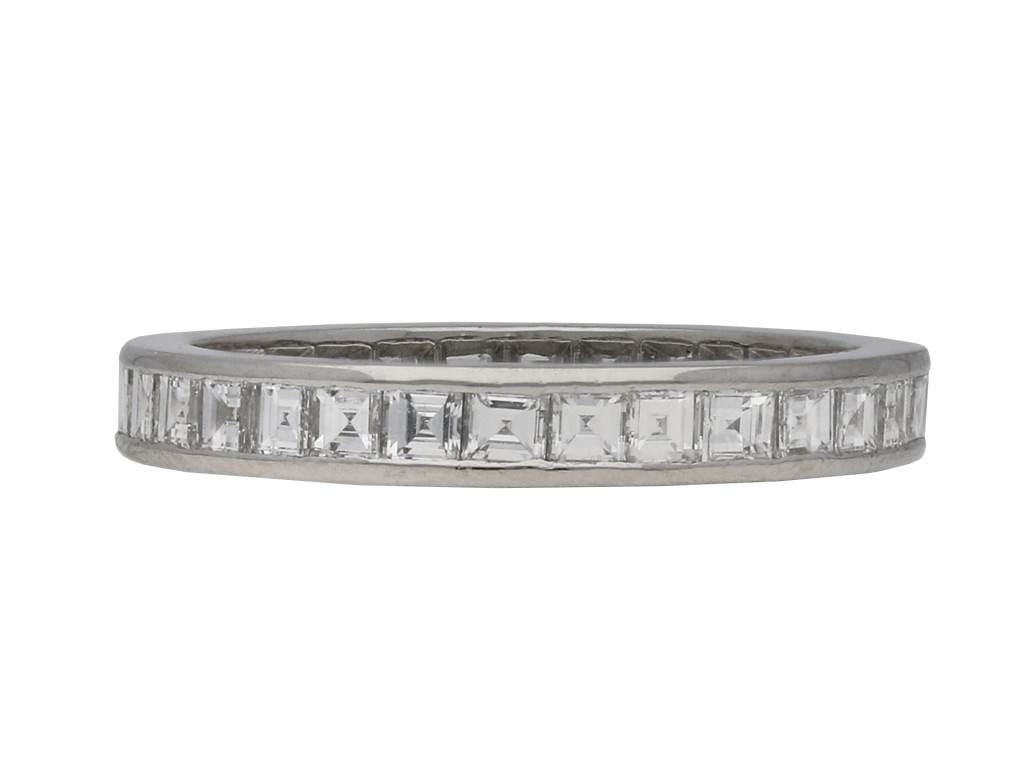 Art Deco diamond full eternity ring berganza hatton garden