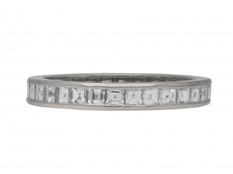 Art Deco diamond full eternity ring berganza hatton garden