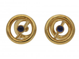 Boucheron gold and sapphire cufflinks berganza hatton garden