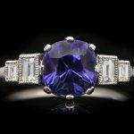 Art Deco Ceylon purple sapphire ring, circa 1920.