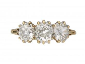 Antique three stone diamond ring berganza hatton garden