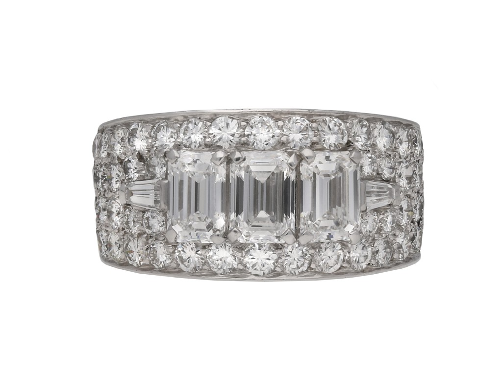 Bulgari diamond cluster ring, berganza hatton garden