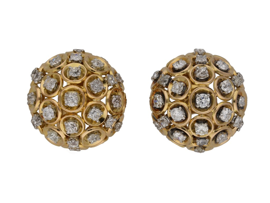 Boucheron Diamond and gold clip earrings berganza hatton garden