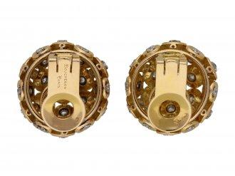 Boucheron Diamond and gold clip earrings berganza hatton garden