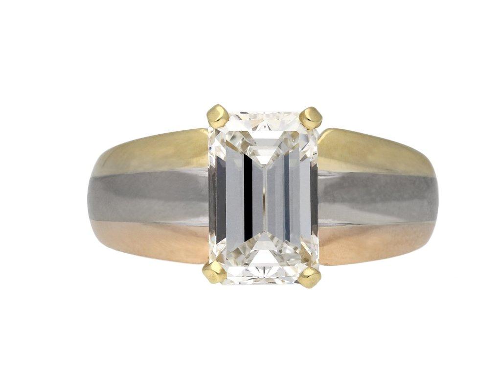 Cartier diamond solitaire ring berganza hatton garden