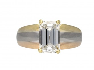 Cartier diamond solitaire ring berganza hatton garden