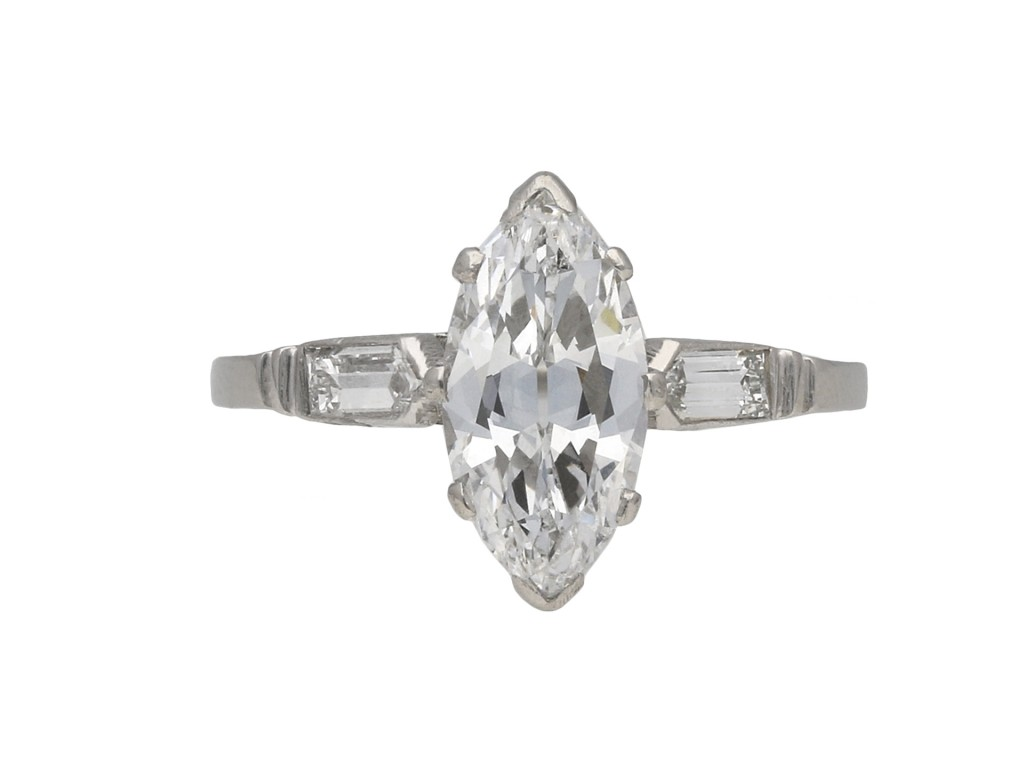 Art Deco solitaire diamond ring berganza hatton garden