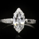 Art Deco solitaire diamond ring, circa 1925.