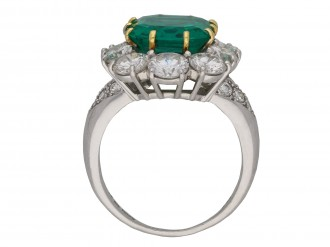 Van Cleef & Arpels emerald diamond ring berganza hatton garden