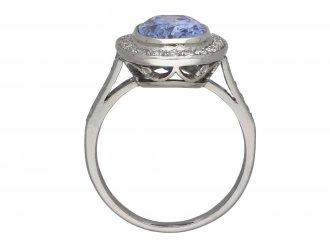 Edwardian Ceylon sapphire and diamond ring berganza hatton garden