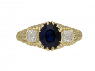 Victorian Burmese sapphire diamond ring berganza hatton garden